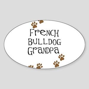 French Bulldog Grandpa Oval Sticker