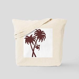Monkey On Palms Tote Bag