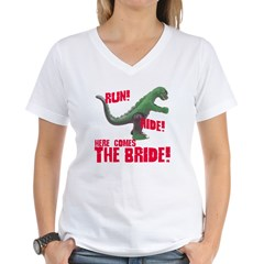 Run Hide Here Comes the Bride Shirt