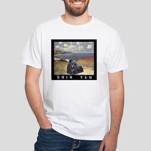 Shih Tzu Fine Art Gina White T-Shirt