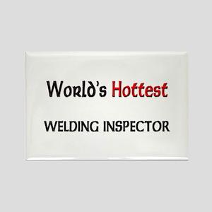 World's Hottest Welding Inspector Rectangle Magnet