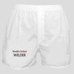 World's Hottest Welder Boxer Shorts