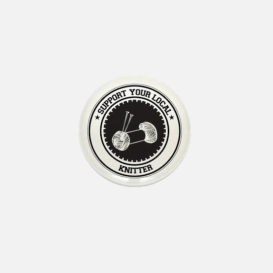Support Knitter Mini Button