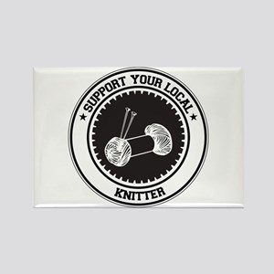 Support Knitter Rectangle Magnet
