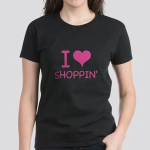 I Love Shoppin' Women's Dark T-Shirt