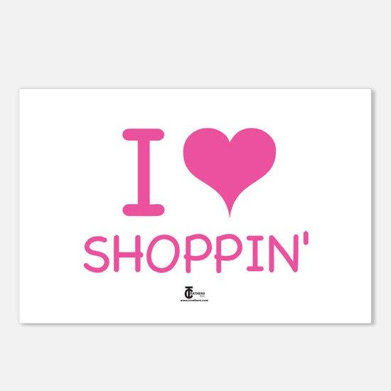 I Love Shoppin' Postcards (Package of 8)