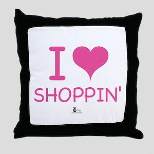 I Love Shoppin' Throw Pillow