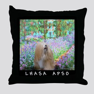 Lhasa Apso Fine Art Tygerlily Throw Pillow