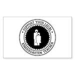 Support Kindergarten Teacher Rectangle Sticker 50