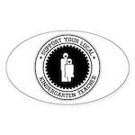 Support Kindergarten Teacher Oval Sticker (10 pk)