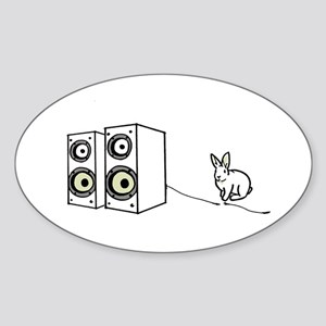 speaker bunny Oval Sticker