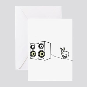 speaker bunny Greeting Cards (Pk of 10)