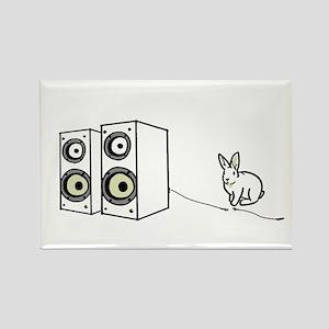 speaker bunny Rectangle Magnet