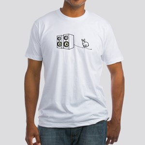 speaker bunny Fitted T-Shirt