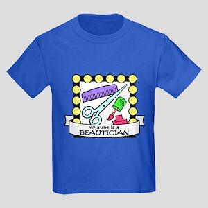 Beautician Aunt Kids Dark T-Shirt