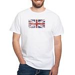 BRITISH UNION JACK (Old) White T-Shirt