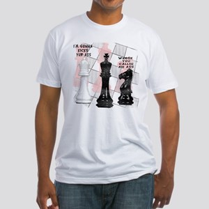 Funny Chess Men Fitted T-Shirt