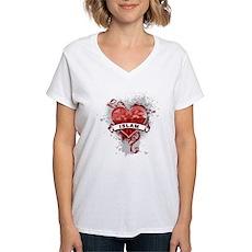 Heart Islam Women's V-Neck T-Shirt