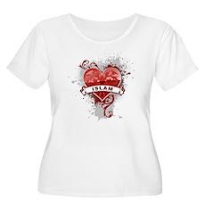 Heart Islam Women's Plus Size Scoop Neck T-Shirt