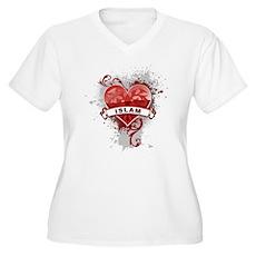 Heart Islam Women's Plus Size V-Neck T-Shirt