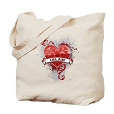 Heart Islam Tote Bag
