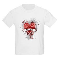 Heart Islam Kids Light T-Shirt