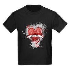 Heart Islam Kids Dark T-Shirt