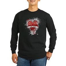 Heart Islam Long Sleeve Dark T-Shirt