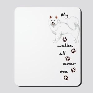 Eskie Walks Mousepad
