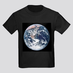 Earth From Moon Kids Dark T-Shirt