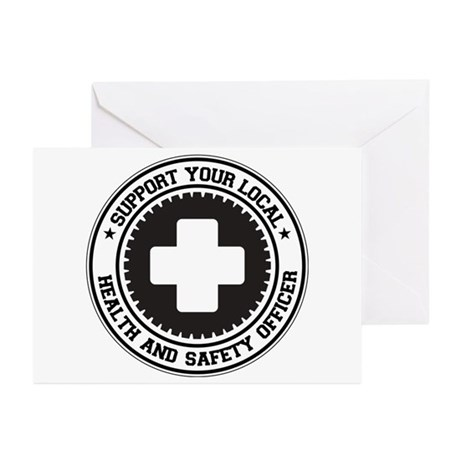 Support Health and Safety Officer Greeting Cards (