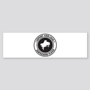 Support Harpsichord Player Bumper Sticker