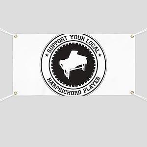 Support Harpsichord Player Banner