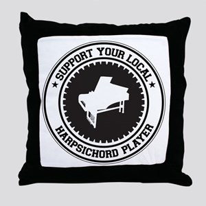 Support Harpsichord Player Throw Pillow