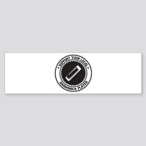 Support Harmonica Player Bumper Sticker