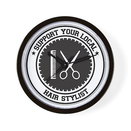 Support Hair Stylist Wall Clock
