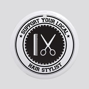 Support Hair Stylist Ornament (Round)