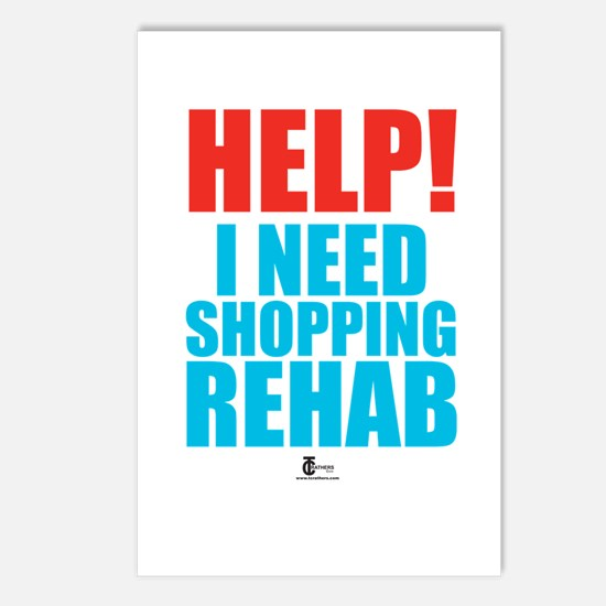 Help! I need shopping rehab Postcards (Package of