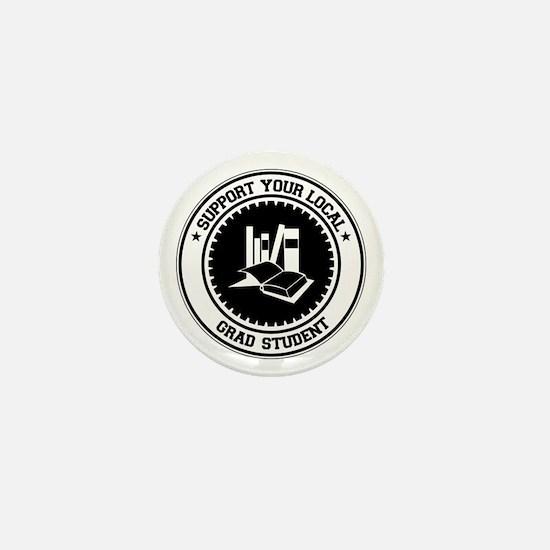Support Grad Student Mini Button