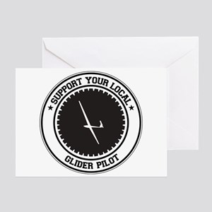 Support Glider Pilot Greeting Card