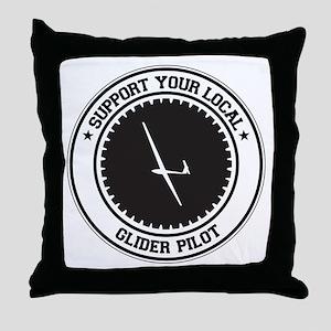 Support Glider Pilot Throw Pillow