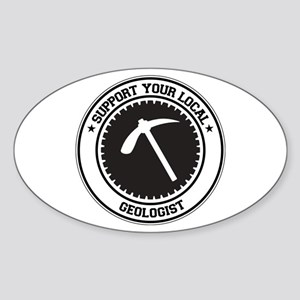 Support Geologist Oval Sticker