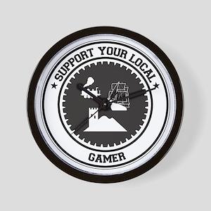 Support Gamer Wall Clock