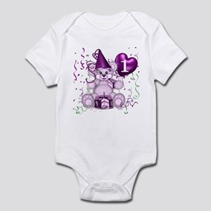 BIRTHDAY AGE: 1 (purple) Infant Bodysuit