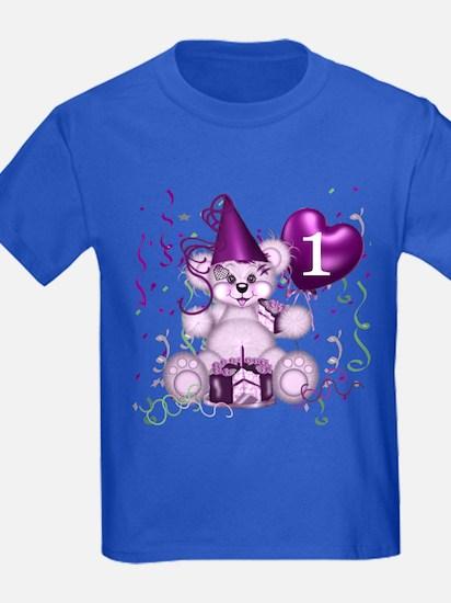 BIRTHDAY AGE: 1 (purple) T