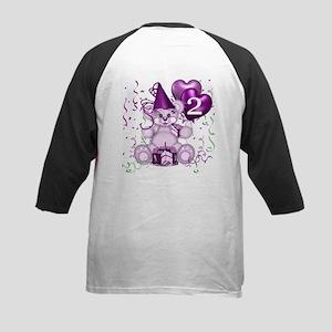 BIRTHDAY AGE: 2 (purple) Kids Baseball Jersey