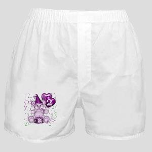 BIRTHDAY AGE: 2 (purple) Boxer Shorts
