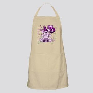 BIRTHDAY AGE: 2 (purple) BBQ Apron