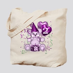 BIRTHDAY AGE: 2 (purple) Tote Bag