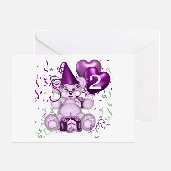 BIRTHDAY AGE: 2 (purple) Greeting Card